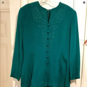 Adrienna Papell  silk dress size 14